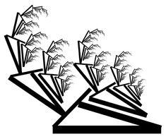 Art deco grass fractal