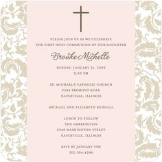 invites by tinyprints...pink and cream w/ brown...offer matching TY cards & party favors and online RSVP option!