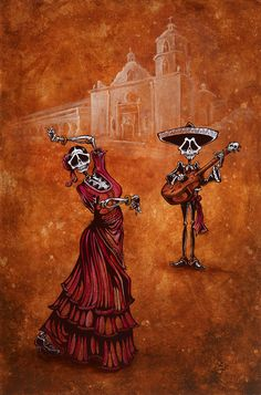 Day of the Dead Art -- Celebration of the Mission by David Lozeau