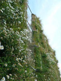 Ogród wertykalny Arnhem, Holandia - zaprojektowany przez Buro Poelmans Reesink http://lepamphlet.com/2012/11/14/jardin-vertical/