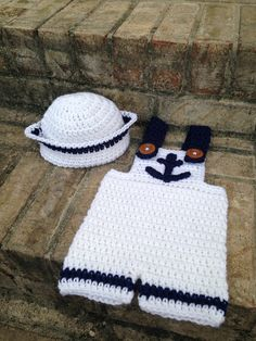 Newborn 03 Months Sailor Outfit Crochet by 3BabyLambs on Etsy, $28.50
