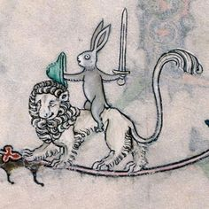The Adventure of Medieval Bunny, Part I: The Killer Bunny -rabbit knight riding his lion steed