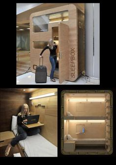 Sleepbox in Moscow airport
