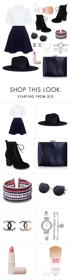 """Everyday perfection"" by missybela ❤ liked on Polyvore featuring Paul & Joe Sister, Sensi Studio, Journee Collection, La Regale, Anne Klein, Lipstick Queen, Maybelline, Summer, chic and friday"