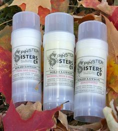 Natural Solid Lotion - 3 Pack | Spinster Sisters Solid Lotion is made with the finest natural ... | Bar Soap