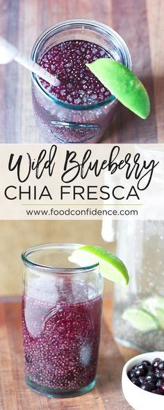 This Wild Blueberry Chia Fresca is perfect for hydrating during the summer. It's refreshing, not too sweet, and packed with protein, fiber, and omega-3's from the chia seeds and antioxidants from the wild blueberries. Plus it's so easy to make! // healthy drink recipes // clean eating drinks ??