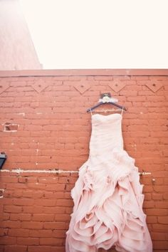 blush wedding dress Vera Wang for Davids Bridal I want a blush dress so bad but no one approves :'(