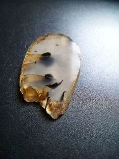 Dendritic Agate - polished slab rough edge, by lamazonian on etsy, 28mm x 52mm x 4mm $10 #lapidary