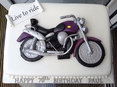 Motorbike themed cake
