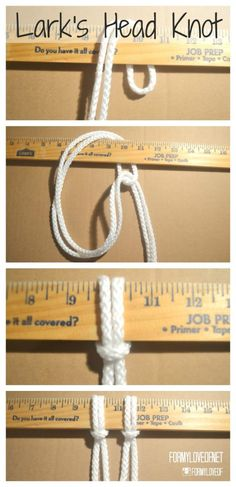 How To Macrame - 5 Essential Knots - A Designer At Home Macrame Curtain, Macrame Plant Hangers, Paracord Knots, Passementerie, Macrame Projects, Macrame Tutorial, Macrame Patterns, Macrame Jewelry, Weaving Techniques
