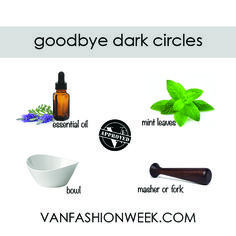 They're called all sorts of names: raccoon eyes, panda eyes, eye rings, eye bags... No matter what you call them, dark circles is one of the most common beauty problems among women. How great would it be to get rid of them with only two organic and natural ingredients? To prepare the paste, mash 5 to 6 mint leaves in a bowl and add a few drops of essential oil. Apply the paste under your eyes and leave it for 10 minutes. Then wipe it off with a cold cloth. Voila, dark circles be gone!