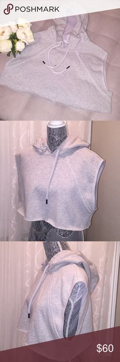 Adidas by Stella McCartney crop sweatshirt Light grey Hoodie  Size small  Excellent condition Adidas by Stella McCartney Tops Sweatshirts & Hoodies