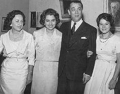 Sarah, Márcia, Juscelino e Maria Estela, 1959