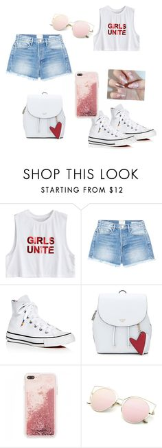 """""""girls unite"""" by kcruth ❤ liked on Polyvore featuring Frame and Converse"""