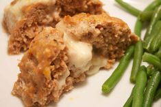 Turkey Sausage Meatloaf (stuffed with mozzarella). Low carb, bariatric friendly recipes at www.foodcoach.me