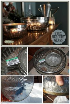 ART IS BEAUTY: Homemade Faux Mercury Glass Decor using Spray Paint