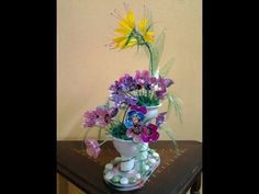 Best Out Of Waste Plastic Egg tray transformed to Colourful Flowers Show...