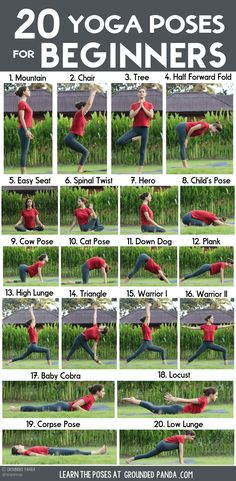 , Yoga poses for beginners: 20 beginner yoga poses for beginners and printable yoga poses to help you workout at home. , 20 yoga poses for beginners (+ free to print) Yoga Bewegungen, Yoga Flow, Yoga Meditation, Yoga Fitness, Physical Fitness, Fitness Exercises, Yoga Exercises, Yoga Workouts, Fitness Logo