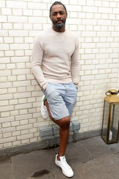 WHERE: At a Purdey's campaign launch event at Soho House in London WHEN: May 13, 2017 WHY: Leave it to Elba to show you how to wear shorts and still look like an elegantly dressed gentleman (the key is a breezy fine-gauge knit instead of a basic T-shirt).