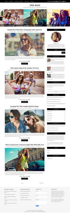 One-Blog is a beautiful and minimal, 100% responsive, 2 columns premium blogger theme for your blog. One-Blog Blogger Template is template designer compatible, so you can change fonts (about 100 fonts) and colors (unlimited colors) very quickly without having any knowledge about theme coding. This blogger template has a 4 columns footer widgets area, right sidebar, Google web fonts, unlimited colors, icon fonts, background image support, related posts with large thumbnails, social and ...