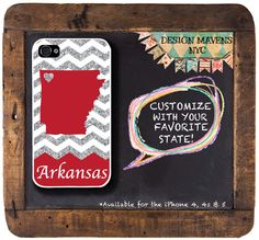 Personalized iPhone Case State Love Arkansas by DesignMavensNYC, $16.99