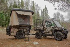 Can-Am Defender Expedition Build Moto Can Am, Camping Survival, Camping Gear, Quad, Utv Accessories, Atv Trailers, Polaris Ranger, Polaris Rzr, All Terrain Tyres