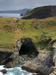 Merlin's Cave, Tintagel, Cornwall, England, UK