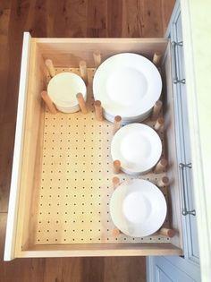 Storage solutions diy - 15 Easy DIY Storage Solution for Minimalist Kitchen – Storage solutions diy Kitchen Storage Solutions, Diy Kitchen Storage, Diy Storage, Kitchen Organization, Plate Storage, Caravan Storage Ideas, Organization Ideas, Camper Storage, Organized Kitchen