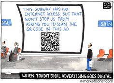 """The book, """"QR Codes Kill Kittens"""" is a useful tool to provide employees with a more formal example of marketing and social media guidance. Email Marketing, Digital Marketing, Out Of Office Message, Friday Humor, Funny Friday, Advertising Ads, Serious Business, Messages, Funny Cartoons"""