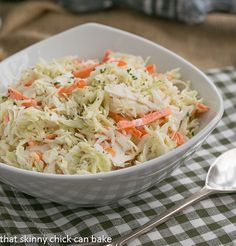 Classic Cole Slaw | http://thatskinnychickcanbake.com