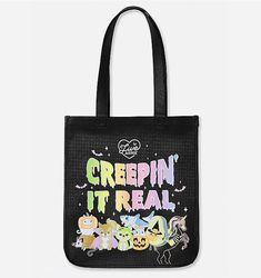 🦄🎃Creepin' It Real Halloween Tote🦄🎃 Justice Bags, Girly Things, Reusable Tote Bags, Halloween, Girl Things, Just Girly Things, Spooky Halloween