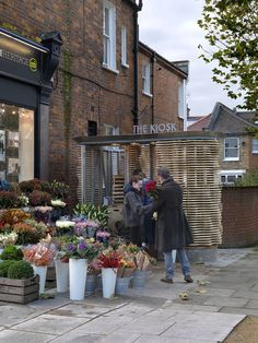 Buchanan Partnership used a combination of digital and handmade fabrication techniques to build the St Helen's Gardens flower stall in Ladbroke Grove.