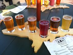Bells Brewery - interesting boards for the samplers