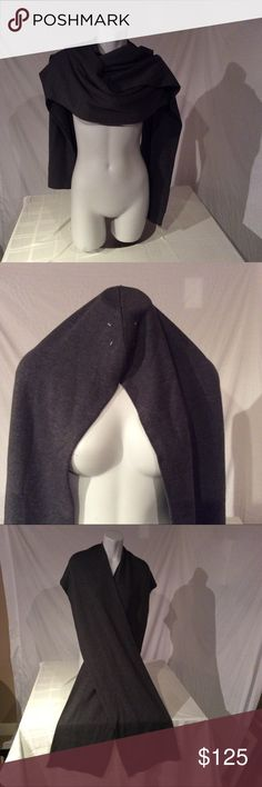 Maison Martin Margiela Gray Wool Scarf Wrap Italy Like new condition. Measures 95in long x 12in wide Maison Martin Margiela Accessories Scarves & Wraps