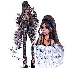 Ariana Grande by Hayden Williams💗 Dress Design Sketches, Fashion Design Drawings, Fashion Sketches, Fashion Sketchbook, Hayden Williams, Ariana Grande Boyfriend, Poses Modelo, Arte Fashion, Paper Fashion