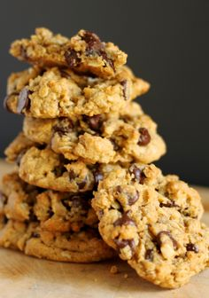 The perfect cookie recipe! Peanut butter, oatmeal, chocolate chip: Have It ALL!