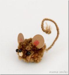 ratón pom pom mascota - tan linda!