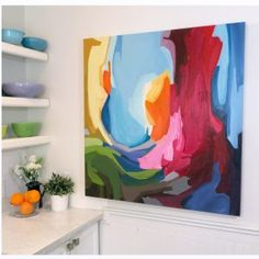 bold colourful abstract painting x acrylic on canvas SOLD Colorful Abstract Art, Abstract Flowers, Abstract Wall Art, Acrilic Paintings, Watercolor Paintings For Beginners, Bee Art, Abstract Painters, Canadian Artists, Landscape Art