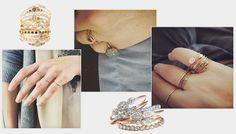 Ring stack: des bagues de fiançailles tendance à accumuler  http://www.vogue.fr/mariage/bijoux/diaporama/mariage-inspiration-sur-instagram-bagues-de-fianailles-en-diamants-accumuler/20635#instagram-les-bagues-de-fianailles-celeste-de-myrtille-beck
