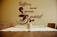 Kaffee her... - Wandtattoo Küche von DOON Germany auf DaWanda.com