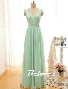 2016 Mint Green Draped Bodice Prom Dress With Open Back