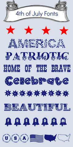 Free Fourth of July Fonts!