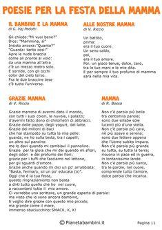 Una collezione di ben 52 poesie per la festa della mamma che potete stampare gratis in PDF per bambini della scuola primaria o d'infanzia