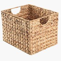 Small Water Hyacinth Bin Natural, x x h Metal Baskets, Storage Baskets, Wicker Baskets, Helsingborg, Hall Furniture, Ikea Furniture, Vintage Pantry, Barbecue Design, Student Room