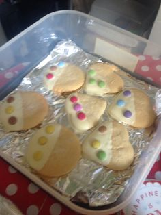 Sugar cookie ready for school summer fayre X well some of them lol X sold really well X