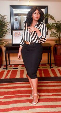 Alter Ego Actress Omotola Jalade Ekeinde becomes brand ambassador for Nigeria Liquified Petroleum Gas Association NLPGA. Classy Work Outfits, Classy Dress, Chic Outfits, Fashion Outfits, Fashionable Outfits, Work Fashion, Pretty Outfits, Fashion Clothes, Fall Outfits