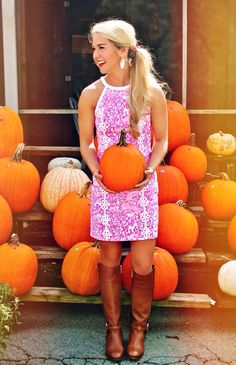 "gollymissmollyyy: "" {pumpkin picking: Lilly Pulitzer style} "" Where Boys Will Be Girls"