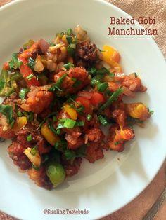 Baked Gobi Manchurian Recipe by Kalyani Healthy Baked Snacks, Healthy Baking, Healthy Recipes, Healthy Food, Gobi Manchurian, Manchurian Recipe, Indian Food Recipes, Gourmet Recipes, Ethnic Recipes