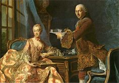 """""""Architect Jean Rodolph Perronet with his wife"""", Alexander Roslin"""