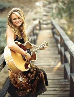 I love Miranda Lambert.  She was a small town girl with a love of country music. She entered a contest, and didn't even win. She went on to be the best thing that happened to country music in twenty years.  She's not afraid of what others think of her. She gains weight, she loses weight. She just doesn't care.